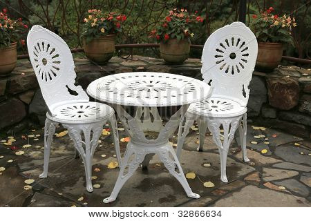 Outdoor Table And Two Chairs