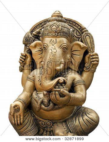 blanco de Dios aislado de Ganesh