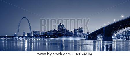 St. Louis skyline panorama.