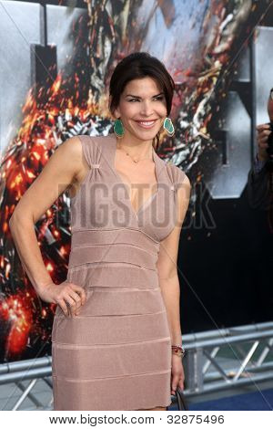 """LOS ANGELES - MAY 10:  Lauren Sanchez arrives at the """"Battleship"""" LA Premiere at Nokia Theater  LA Live on May 10, 2012 in Los Angeles, CA"""