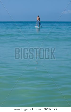 Paddleboarding Out To Sea