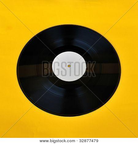 Vinyl Record White Label Promo