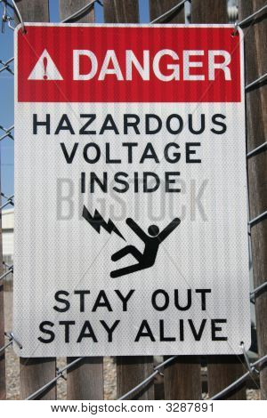 Hazardous Voltage Warning