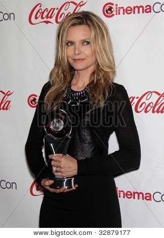 LAS VEGAS - APR 26:  MICHELLE PFEIFFER arrives afor the Cinema Con 2012-Final Night Awards  on April 26, 2012 in Las Vegas, NV