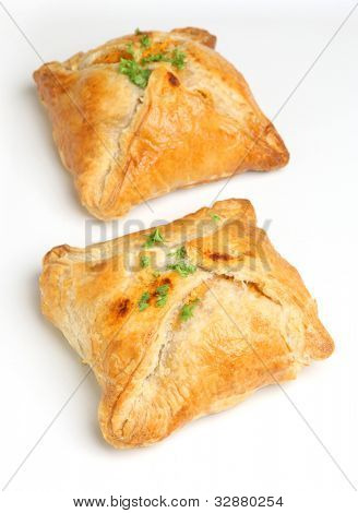 Chicken encroute pastry parcels