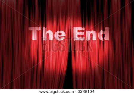 The End Theater Curtain