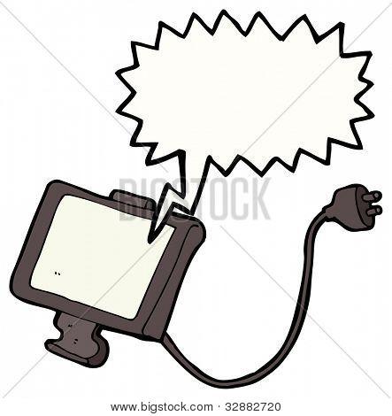 cartoon television screen
