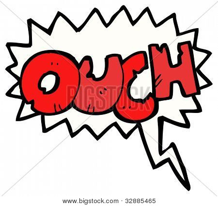 cartoon comic book ouch shout