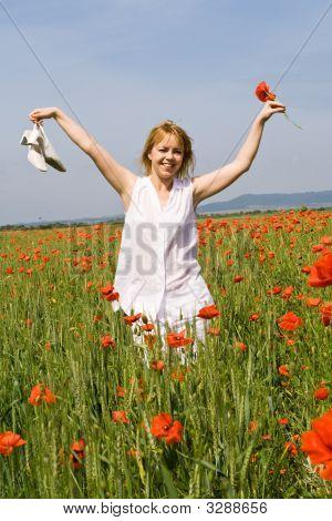 Walking Among Poppies
