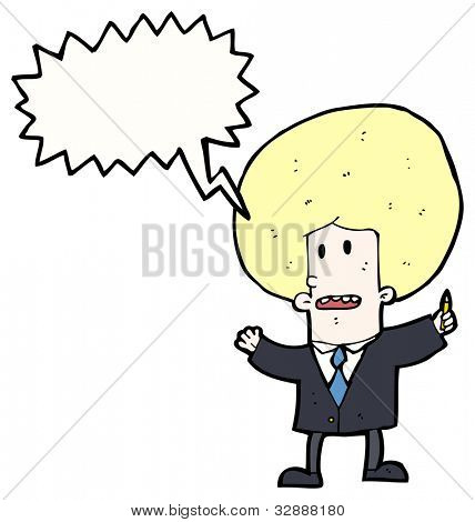 cartoon blond businessman