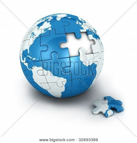 blue earth of puzzle