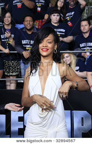 LOS ANGELES - MAY 10: Rihanna at the premiere of Universal Pictures' 'Battleship' at The Nokia Theater L.A. Live on May 10, 2012 in Los Angeles, California