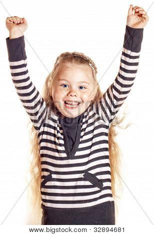 Funny Smiling Little Girl