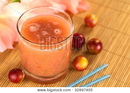 Juice out of Camu-camu Berry Fruits