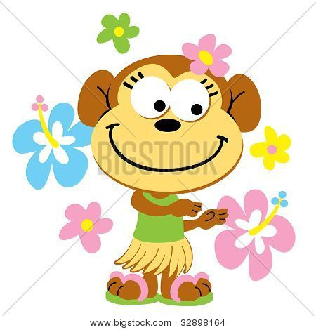 Hula Monkey in the Tropics