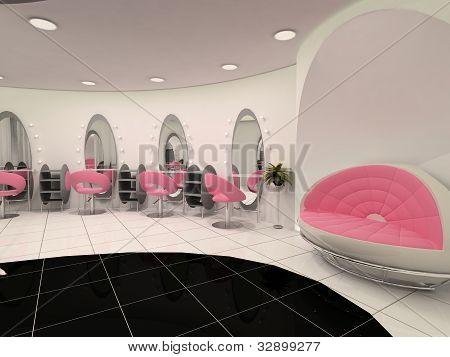 Innere des professionellen Kosmetik-salon