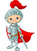 stock photo of armor suit  - Illustration of little knight - JPG