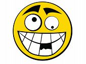 picture of feeling stupid  - Yellow Smiley Icon Stupid with knocking out teeth - JPG