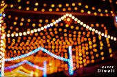 Abstract Background Of Diwali, Happy Diwali, Diwali Lighting Background, Deepawali, Bokeh Lights For poster