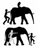 Raising Strong Or Anxious Kids. Crying Child On Elephant With Pushing Parent And Mentally Strong Tee poster