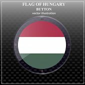 Bright Transparent Button With Flag Of Hungary. Happy Hungary Day Button. Bright Button With Flag. V poster