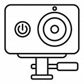Dynamic Action Camera Icon. Outline Dynamic Action Camera Vector Icon For Web Design Isolated On Whi poster