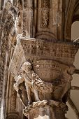 Detail Of Pillar Of Outer Facade Of Rectors Palace In Dubrovnik Croatia poster