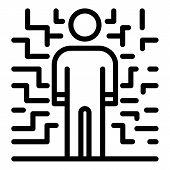 Man Bipolar Disorder Icon. Outline Man Bipolar Disorder Vector Icon For Web Design Isolated On White poster