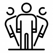 Person Disorder Icon. Outline Person Disorder Vector Icon For Web Design Isolated On White Backgroun poster