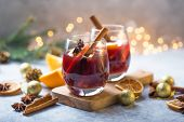 Mulled Wine . Christmas Mulled Wine Delicious Holiday Like Parties With Orange Cinnamon Star Anise S poster