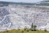 stock photo of asbestos  - Abestos mine - JPG