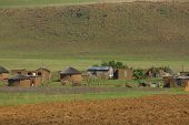 Traditional style of housing in Lesotho
