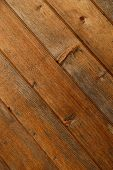 Abstract Natural Wooden Background. Texture Of Brown Wooden Surface From Planks. Diagonal Planks. Cl poster