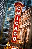Sinal de Chicago Theater