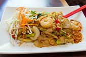 Thai Pad Kee Mao Rice Noodle With Prawns poster