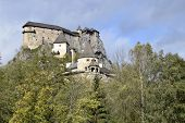 Ancient Historical Palace. The Castle Is Built On A High Rock. Trees Grow Around The Palace. poster