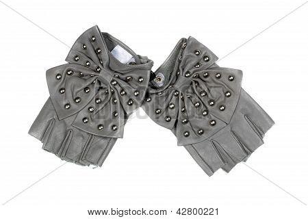 Gray Women's Fingerless Gloves