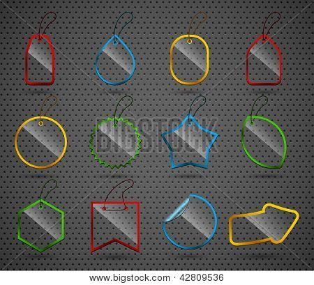 Set Of Design Glass Elements.