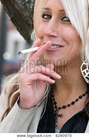 Smoking A Cigarette
