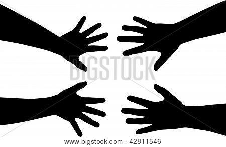 sisters hands vector