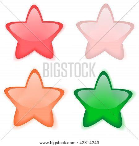 glass star buttons