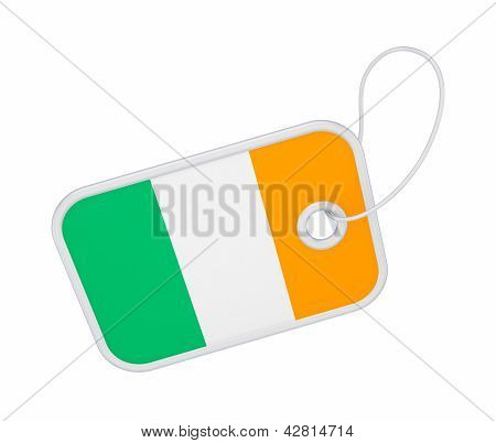 Tag with a flag of Ireland.