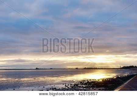 Sunset at Roosebeck, Morecambe Bay.