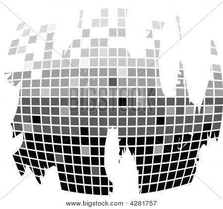 Squares Texture Mono Drops