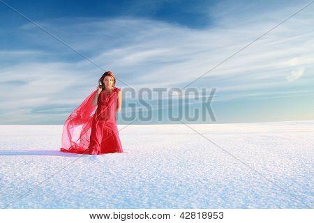Girl At Snow