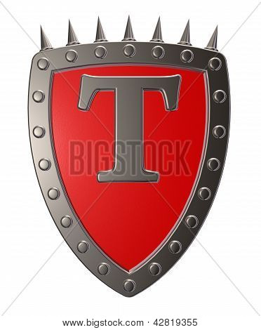 Shield With Letter T