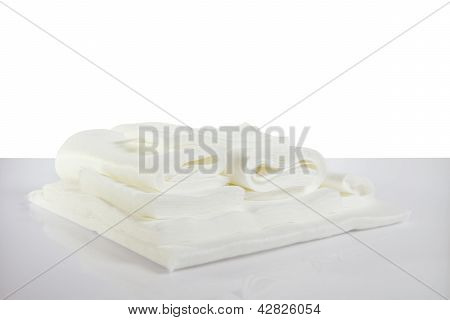 White Sheet, Towels And Napkins
