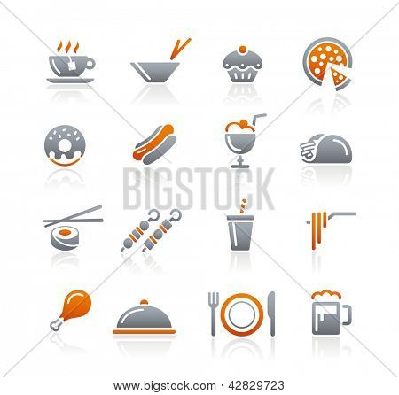 Food Icons - 2 // Graphite Series