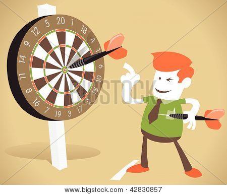 Corporate Guy Hits a Bullseye