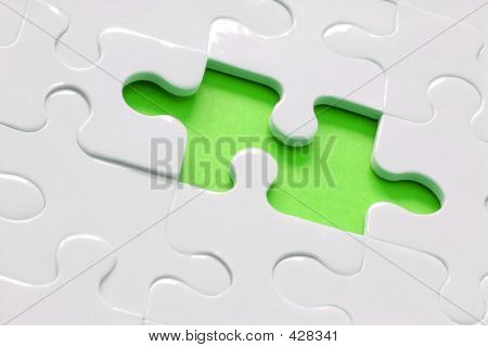 Lime Green Jigsaw